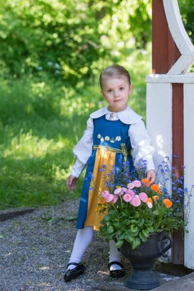 Le costume traditionnel suédois lui sied plutôt bien, non?