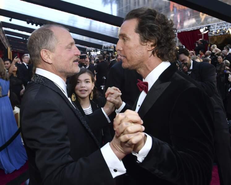 Woody Harrelson et Matthew McConaughey visiblement très bons copains