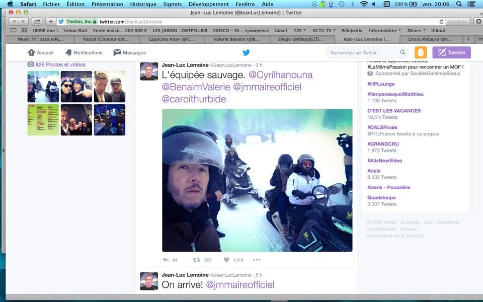 Petit selfie pour Jean-Luc Lemoine avant de rejoindre l'équipée sauvage