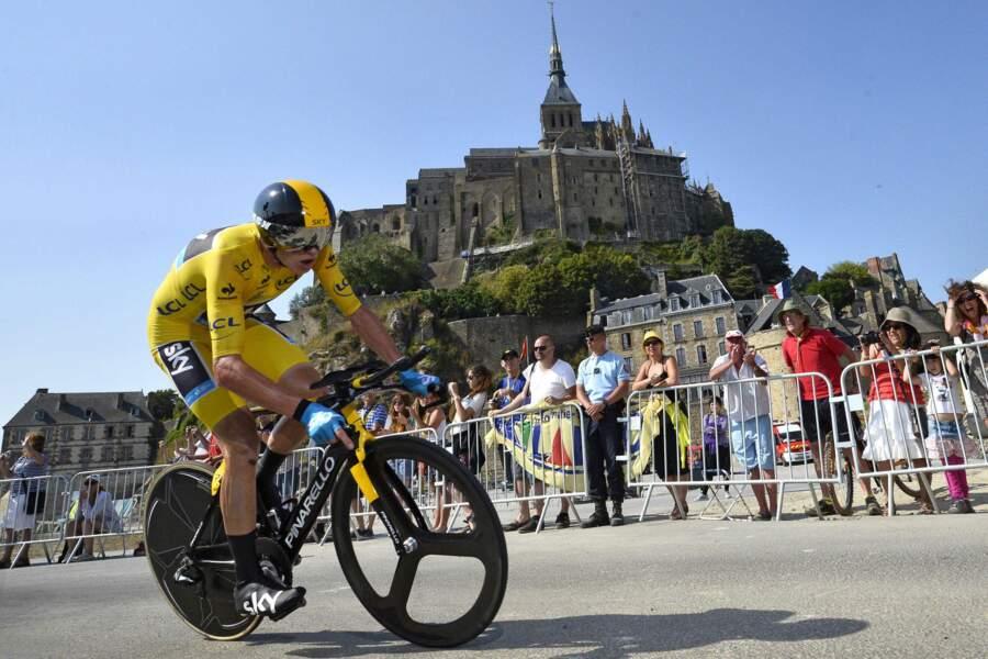 Et est arrivé deuxième au contre-la-montre du Mont-Saint-Michel