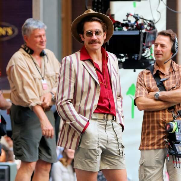 Jake Gyllenhaal a mis son plus beau short pour le tournage de OKJA à Wall Street, New York