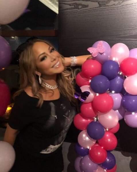 Mariah Carey a fêté ses 49 ans et il y avait évidemment des papillons.