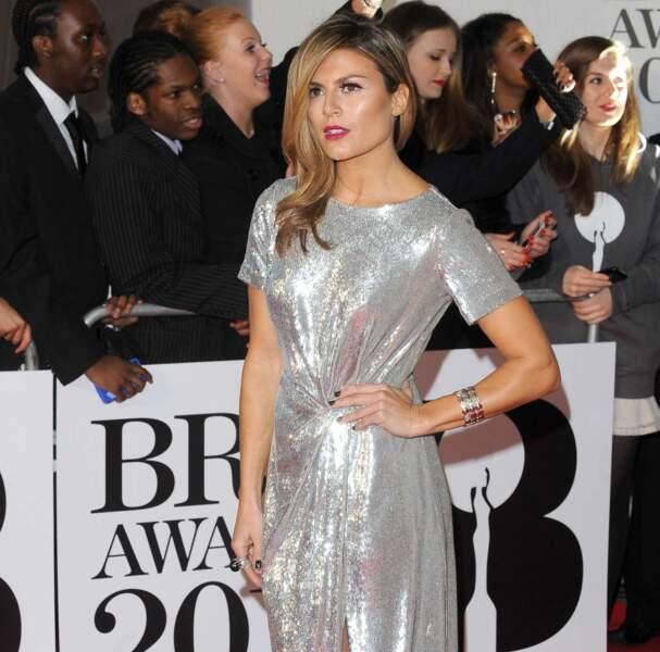 La comédienne Zoe Hardman avait choisi une robe en lamé