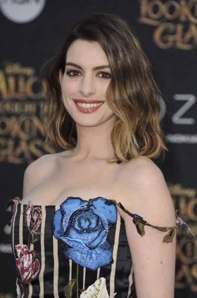 Anne Hathaway, végétarienne comblée.