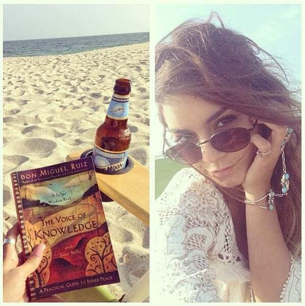 Petite pause soleil et lecture à la plage !