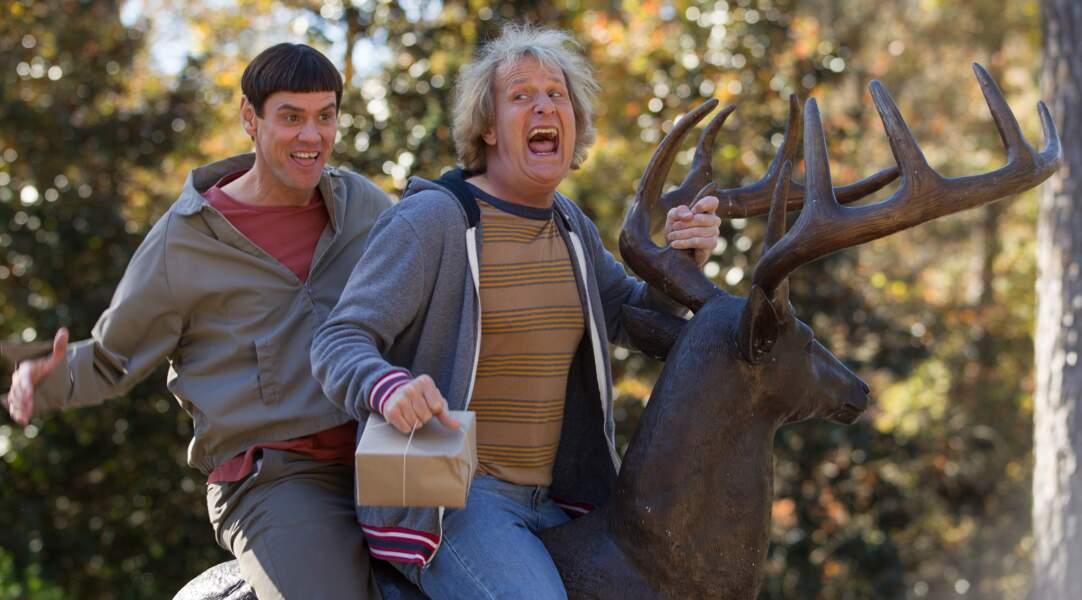 Jim Carrey et Jeff Daniels, coupes du moyen âge, dans Dumb & Dumber De (2014)