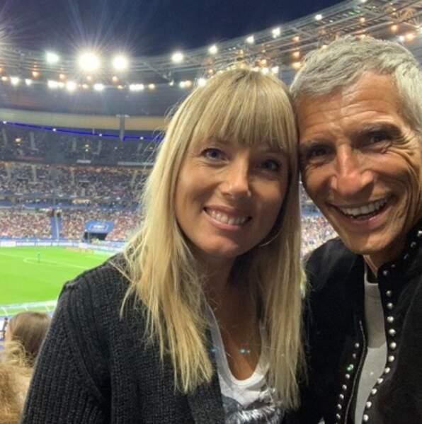 Nagui et sa femme Mélanie soutenaient les Bleus.