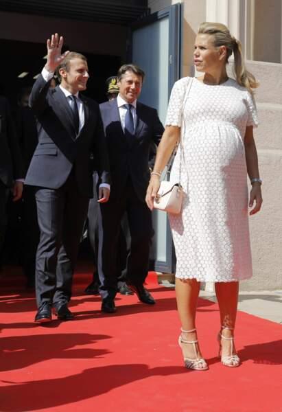 Emmanuel Macron, Christian Estrosi, Laura Tenoudji