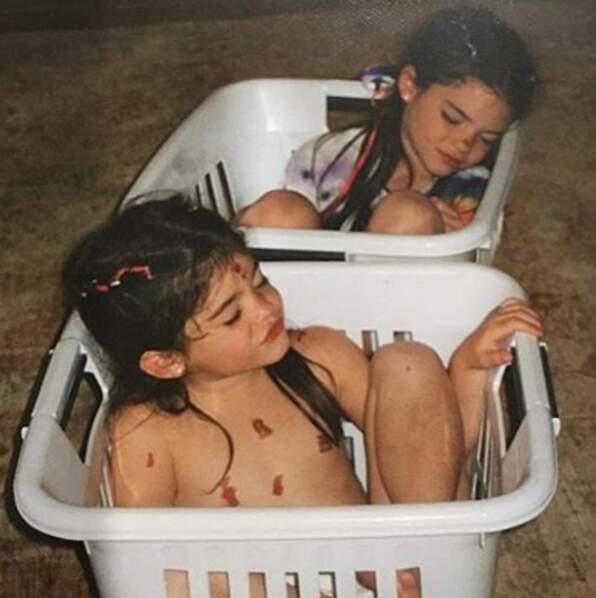 Kendall et Kylie, il y a une quinzaine d'années, quand elles étaient sages...