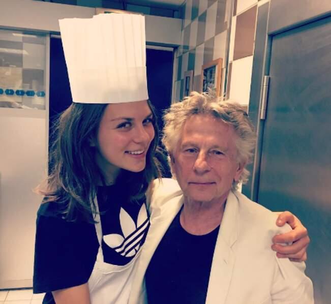 Morgane Polanski et son papounet ont suivi un cours de cuisine à Paris.