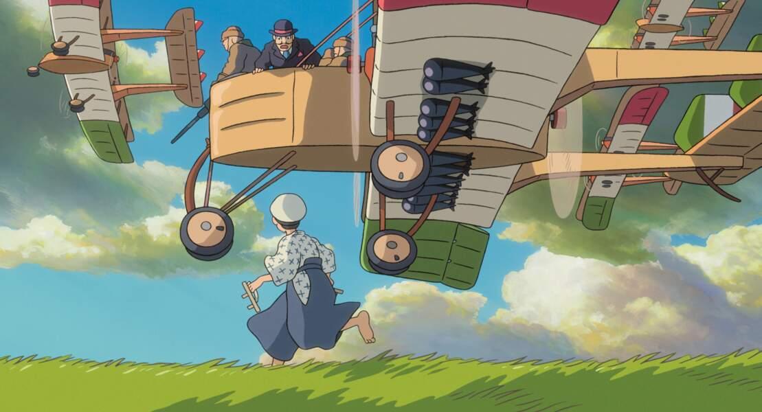 Le vent se lève (2014) : Il s'agit d'une biographie inspirée de la vie de Jirō Horikoshi, concepteur d'avions