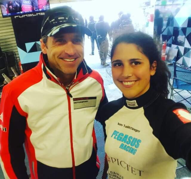 Inès Tattinger, coureuse automobile, a rencontré Docteur Mamour aux 24h du Mans.