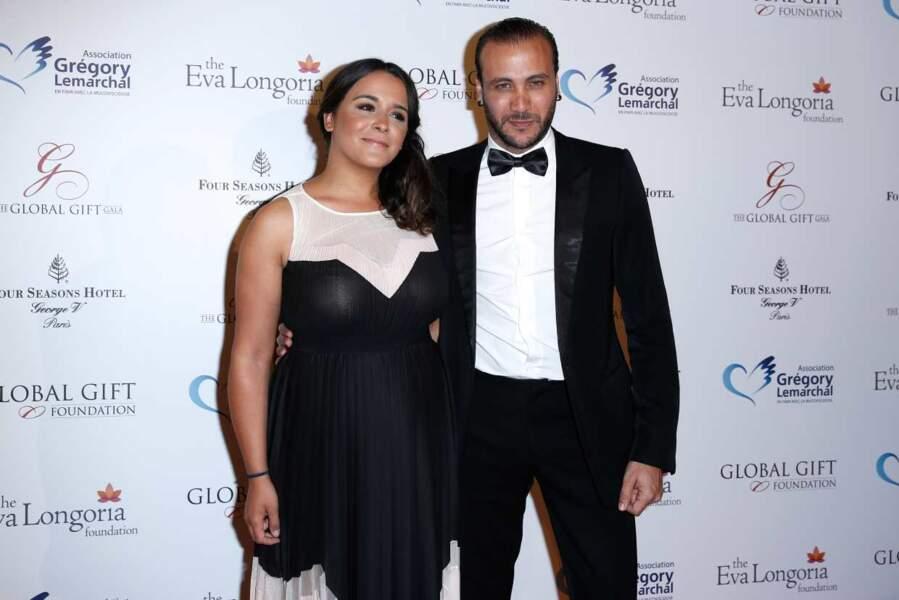 Merwan Rim (Ice Show) et sa compagne