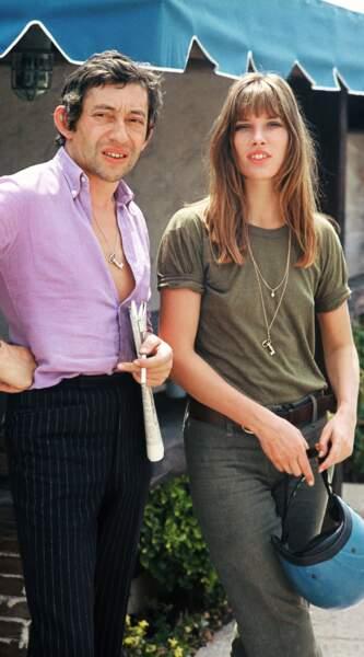 Jane Birkin et Serge Gainsbourg, décédé le 2 mars 1991.