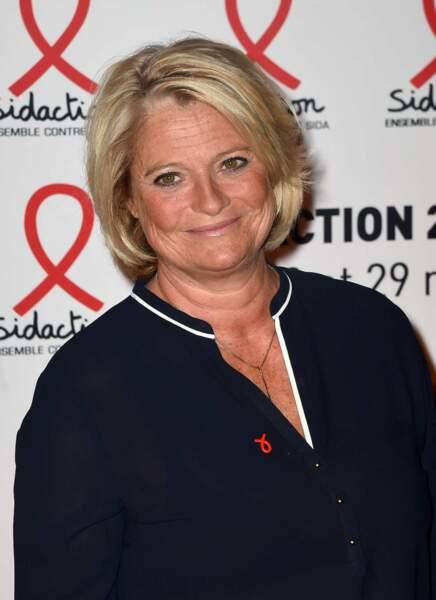Marina Carrère d'Encausse lors de la conférence de presse du Sidaction le 2 mars 2015
