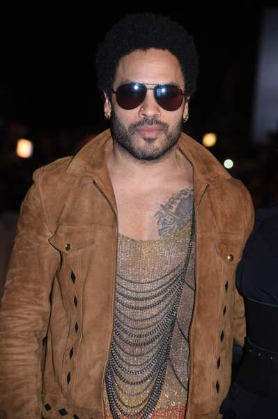 Lenny Kravitz sur le tapis rouge des NRJ Music Awards