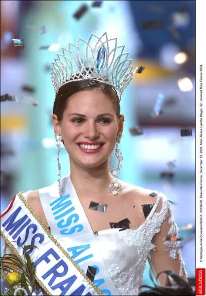Miss France 2004 : Laetitia Bleger (Miss Alsace)