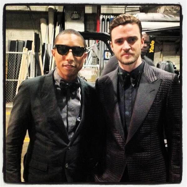 Probablement la photo la plus classe d'Instagram. Pharrell avec Justin Timberlake.