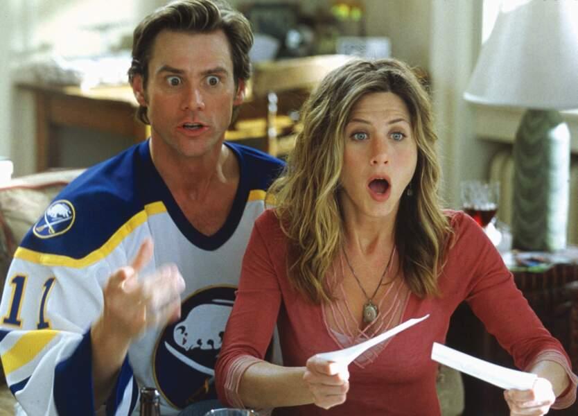 """Puis, en 2003, """"Bruce tout puissant"""" avec Jim Carrey : énorme succès commercial!"""