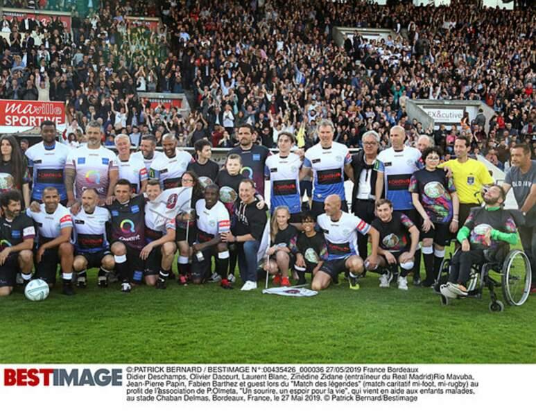 Les légendes du foot et du rugby se sont retrouvées à Bordeaux pour un match caritatif