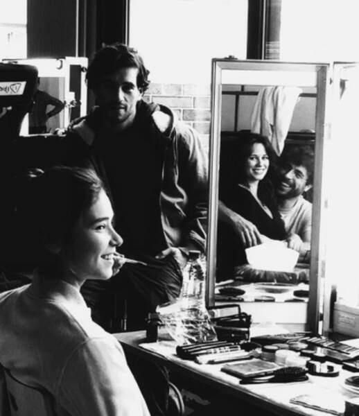 Jolie photo dans la loge maquillage du tournage de Clem