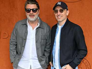 Roland-Garros 2019 : Gad Elmaleh et Philippe Lellouche de passage sous le soleil de la Porte d'Auteuil