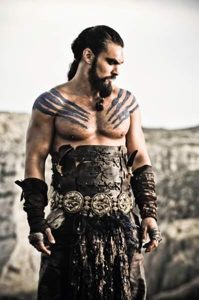 Jason Momoa a interprété Khal Drogo, le mari de Daenerys pendant la saison 1