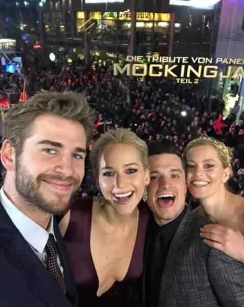 Avant-première dans la joie et la bonne humeur à Berlin pour le dernier Hunger Games.