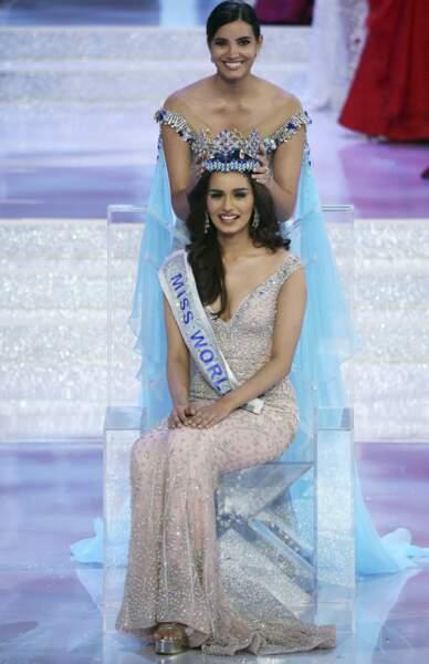 Manushi Chhillar, la Miss Monde, est couronnée