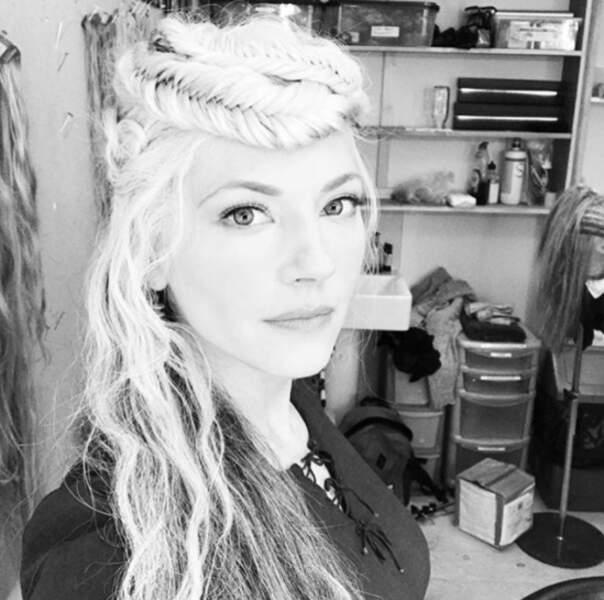 Point cheveux : Katheryn Winnick ne blague pas avec les couronnes de tresses.
