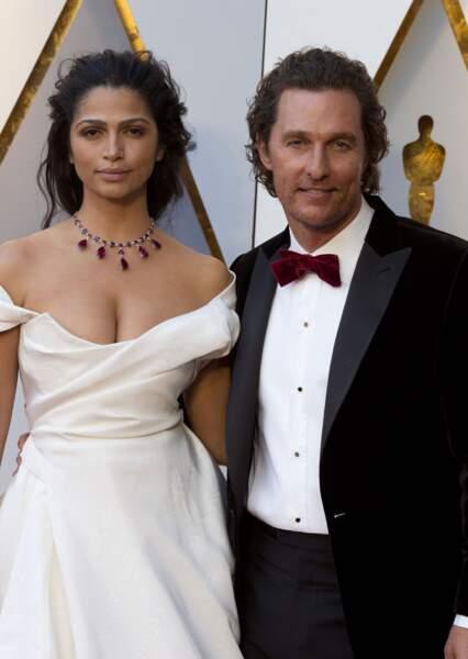 Matthew McConaughey et le Top model brésilien Camila Alves