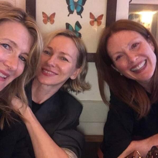 Laura Dern, Naomi Watts et Julianne Moore : bonne chance pour trouver une autre photo avec un tel casting !