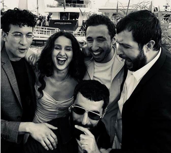 Oulaya Amamra et l'équipe du film de Romain Gavras
