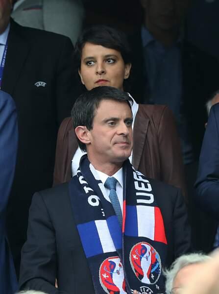 Manuel Valls et Najat Vallaud-Belkacem attentifs
