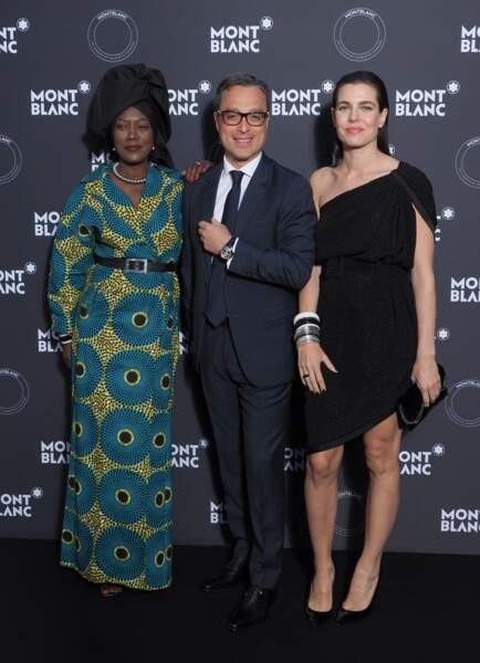Khadja Nin, directrice générale de Montblanc, Nicolas Baretzki et Charlotte Casiraghi