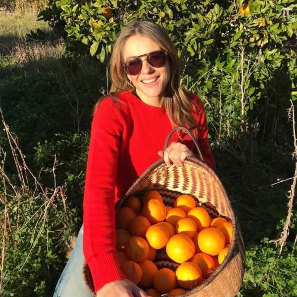 Et Elizabeth Hurley mise sur la vitamine C.