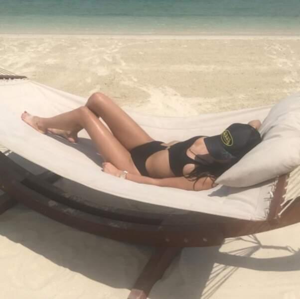 La belle a profité de ces quelques jours de vacances pour se reposer, au soleil....