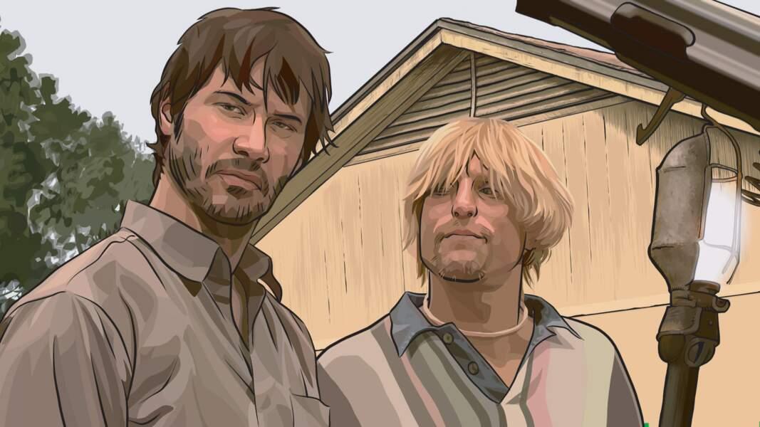 Vous les reconnaissez ? Keanu Reeves et Woody Harrelson façon animation