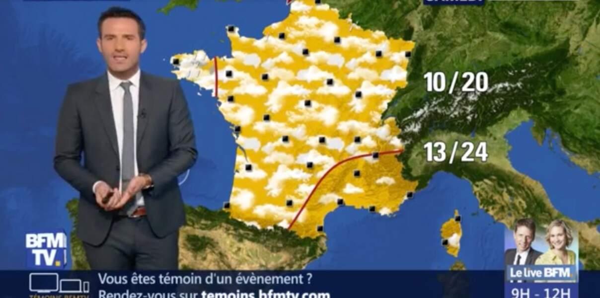 Le présentateur météo de BFMTV Marc Hay a été professeur d'anglais
