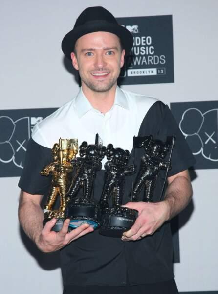 Le roi de la 30e cérémonie des MTV Video Awards, c'est lui, Justin Timberlake. Alors heureux ?