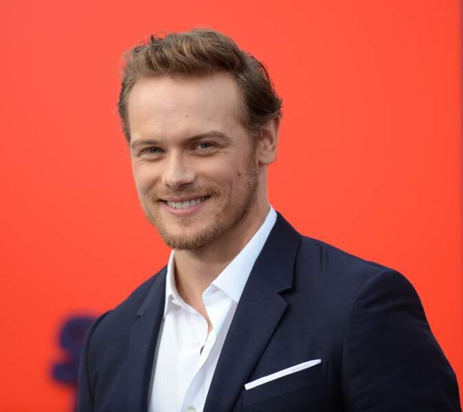Et voici son interprète Sam Heughan, la barbe bien taillée pour un événement à Hollywood
