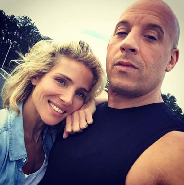 Dans les coulisses de Fast and Furious 8 : Elsa Pataky et Vin Diesel.