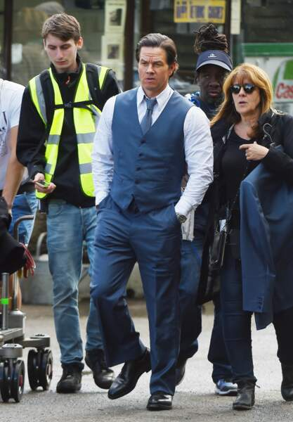 "Aussi beau gosse, Mark Wahlberg tourne ""All The Money In The World"". La classe !"