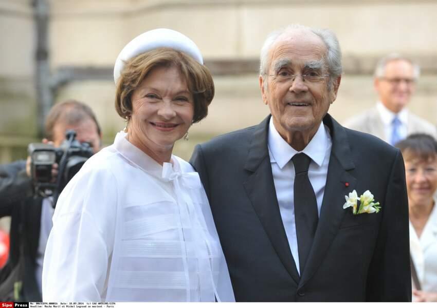 Les jeunes mariés Macha Méril et Michel Legrand