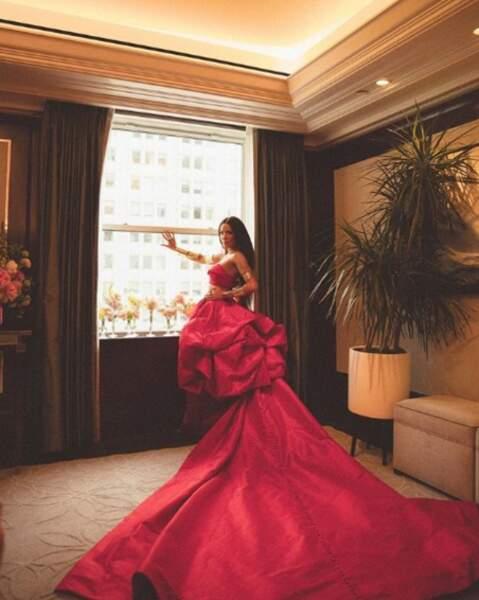 La chanteuse Halsey avait opté pour une robe très pratique pour le MET Gala 2019.