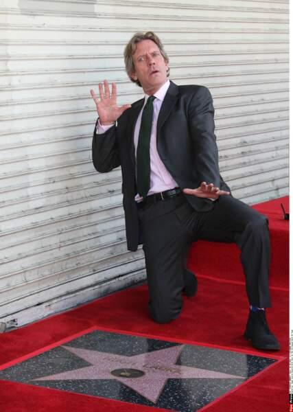 L'acteur a fait le pitre devant les photographes