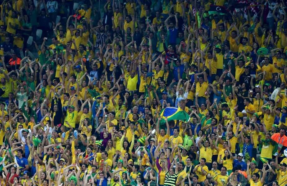 Y a-t-il des supporters brésiliens dans la salle ? (Visiblement oui)
