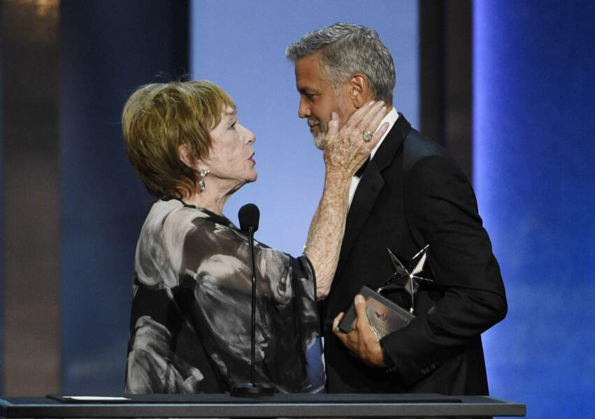 Shirley MacLaine et George Clooney