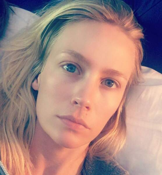 January Jones sans maquillage