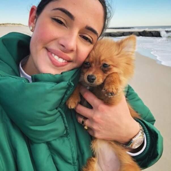 La star de Coralie Porrovecchio, c'est clairement son chien Maya.